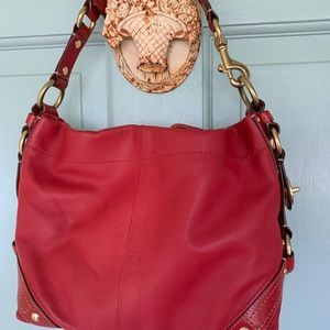 Coach handbag, Shoulder bag in Chili Pepper Red